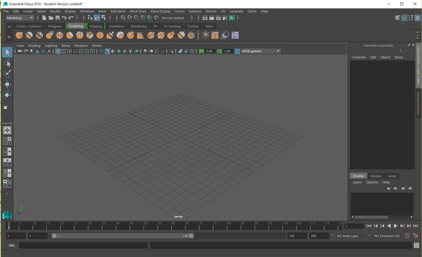 Autodesk Maya 2016 screenshot